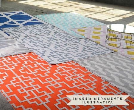Passadeira Turco Doha Prime Frames - Marinho Cream | WestwingNow