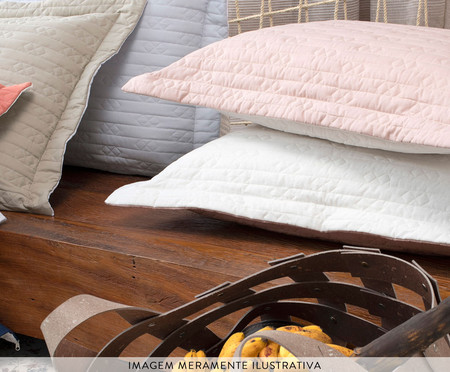 Porta-Travesseiro Aquarele Mist Chocolate - 150 Fios | WestwingNow