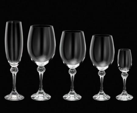 Jogo de Taças em Cristal Ecológico Elisa - 06 Pessoas | WestwingNow