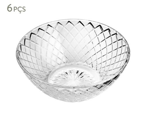 Jogo de Bowls em Vidro Lupe Transparente - 06 Pessoas, Transparente | WestwingNow