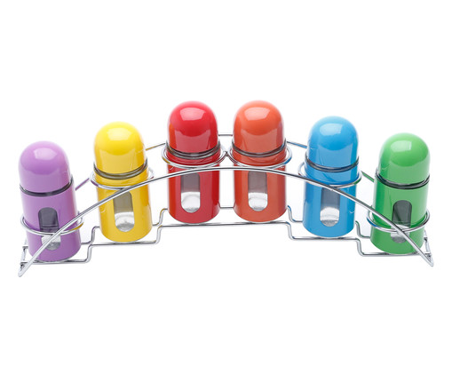 Jogo de Porta-Condimentos em Inox Rosy Colors, colorido | WestwingNow