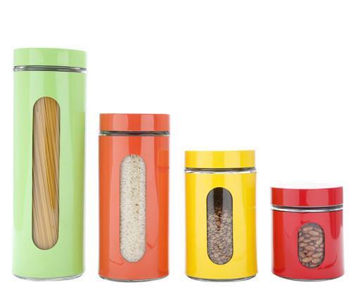 Jogo de Potes para Mantimentos em Inox Aline Colors, colorido | WestwingNow