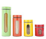 Jogo de Potes para Mantimentos em Inox Aline Colors | WestwingNow