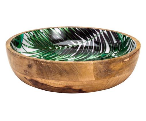 Bowl em Madeira Lana - Estampado, Verde | WestwingNow
