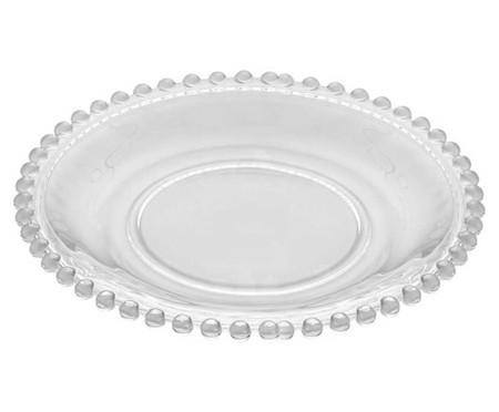 Jogo de Pratos para Sobremesa em Cristal Pearl Transparente - 04 Pessoas | WestwingNow