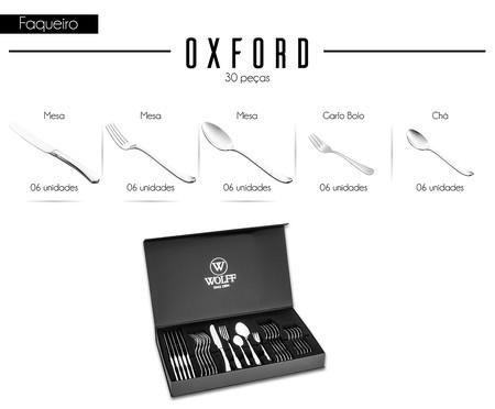 Faqueiro em Inox Oxford - 06 Pessoas | WestwingNow