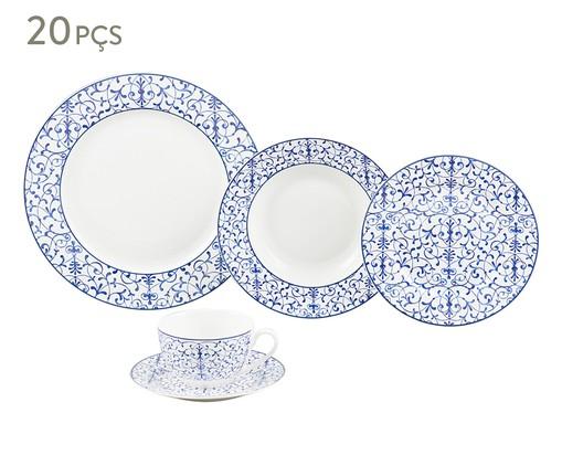 Jogo de Jantar em Porcelana em Porcelana Abstract -  04 Pessoas, Branco | WestwingNow