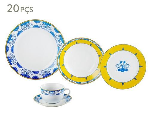 Jogo de Jantar em Porcelana Super White Amalfi - 04 Pessoas, Branco | WestwingNow