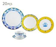 Jogo de Jantar em Porcelana Super White Amalfi 04 Pessoas - Branco | WestwingNow