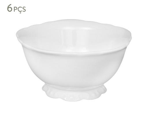 Jogo de Bowls em Porcelana Welle - Branco, Branco | WestwingNow