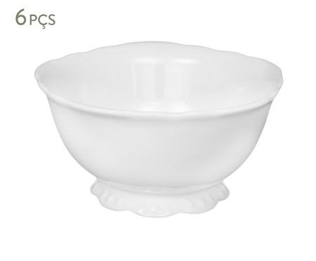 Jogo de Bowls em Porcelana Welle Branco - 06 pessoas | WestwingNow
