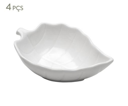 Jogo de Bowls em Porcelana Leafes - Branco, Branco | WestwingNow