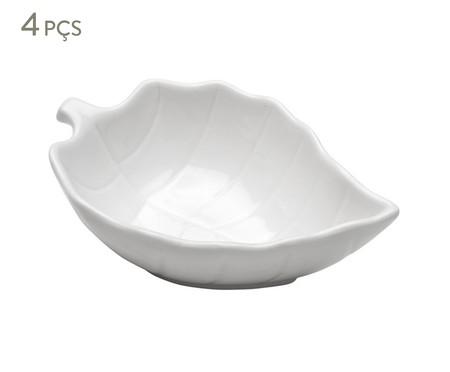 Jogo de Bowls em Porcelana Leafes - Branco | WestwingNow