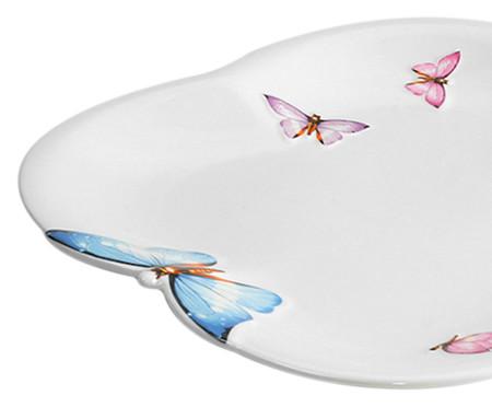 Jogo de Pratos Rasos em Porcelana Borboletas 06 Pessoas - Branco | WestwingNow