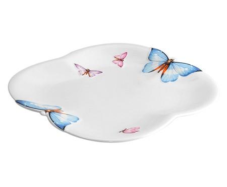 Jogo de Pratos Rasos em Porcelana Borboletas Branco - 06 Pessoas | WestwingNow
