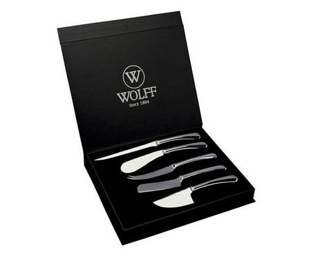 Jogo de Facas para Queijo em Inox Single | WestwingNow