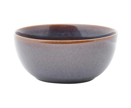 Jogo de Bowls em Porcelana Reactive Glaze Azul e Marrom - 06 Pessoas | WestwingNow