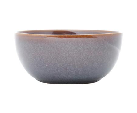 Jogo de Bowls em Porcelana Reactive Glaze 06 Pessoas - Azul e Marrom | WestwingNow