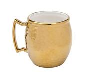 Caneca em Porcelana Moscow Mule Vera - Dourada | WestwingNow