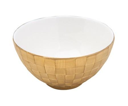 Jogo de Bowls em Porcelana Vera - Dourado | WestwingNow