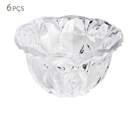 Jogo de Bowls em Cristal Louise Transparente - 06 Pessoas | WestwingNow