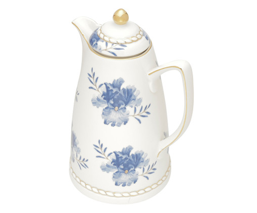 Garrafa Térmica em Porcelana Floral, Branco | WestwingNow