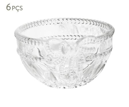 Jogo de Bowls em Cristal Royal Transparente - 06 Pessoas | WestwingNow