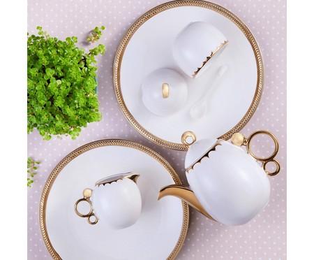 Jogo para Servir Café em Porcelana York - Branco | WestwingNow
