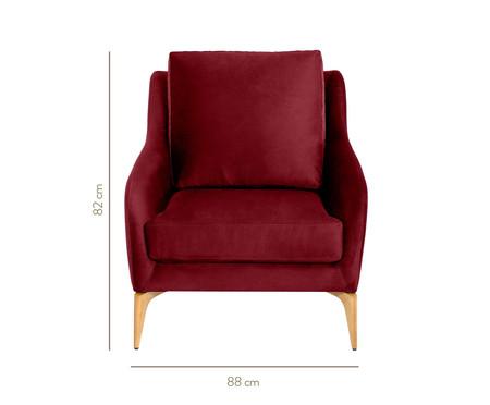 Poltrona de Madeira Julia - Vermelha | WestwingNow