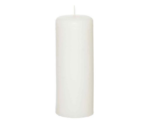 Vela Cilindrica Lewis  Branca   - 8x20cm, Branca | WestwingNow