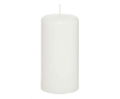Vela Cilindrica Clark  Branca - 8x15cm, Branca | WestwingNow