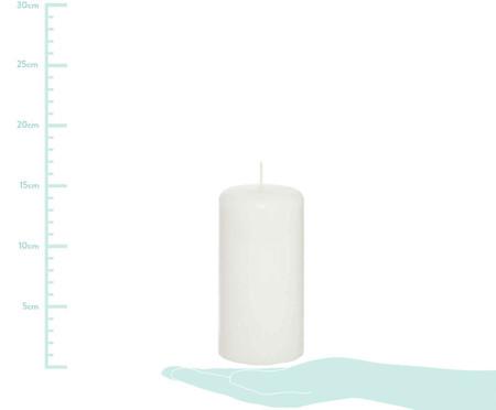 Vela Cilindrica Clark  Branca   - 8x15cm | WestwingNow