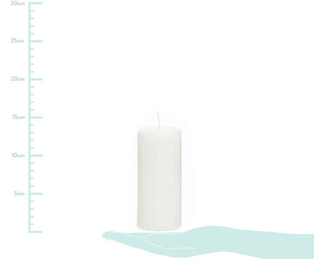 Vela Cilindrica Thompson Branca - 6,3x14cm | WestwingNow