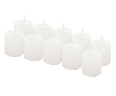 Jogo de 10 Velas Cilíndricas Anderson - Branco | WestwingNow