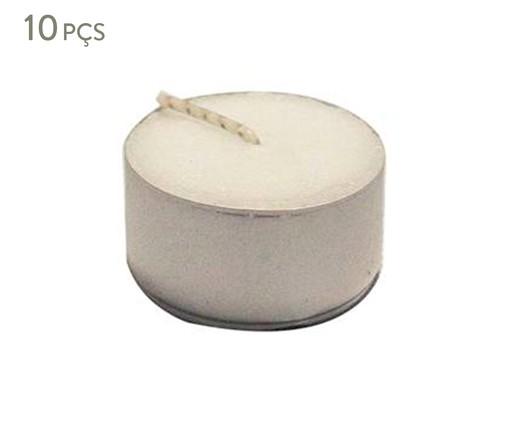 Jogo de 10 Velas Rechaud Cecile - 2,5x1,8 cm, Branca | WestwingNow