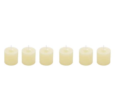 Jogo de 6 Velas Cilíndricas Miller Marfim - Bege | WestwingNow