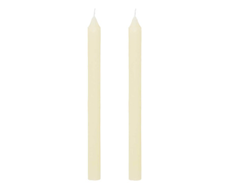 Jogo de 2 Velas para Castiçal Brown  Marfim   - 2x26cm | WestwingNow
