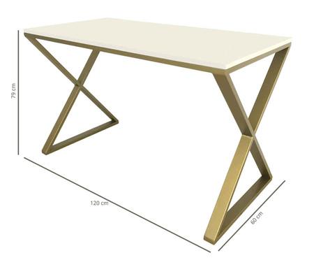 Escrivaninha Xis - Branca e Dourada | WestwingNow