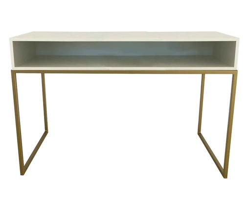Escrivaninha com Nicho Glam - Branco e Dourado, branco,dourado | WestwingNow