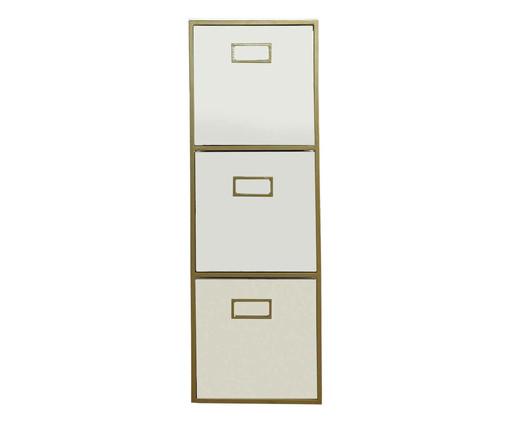 Gaveteiro Triplo - Branco e Dourado, branco,dourado | WestwingNow