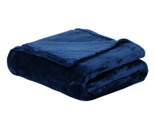 Cobertor Sweet Dream 300G/M² - Azul Marinho, Azul Marinho | WestwingNow