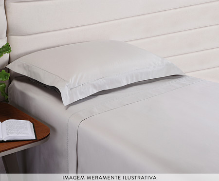 Jogo de Lençol Bordado Hotel Cinza - 200 Fios | WestwingNow