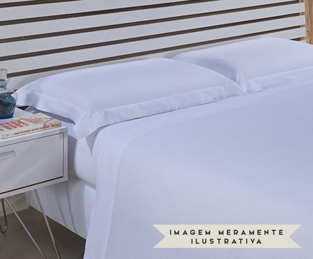 Jogo de Lençol Hotel Acetinado 300 Fios - Branco | WestwingNow