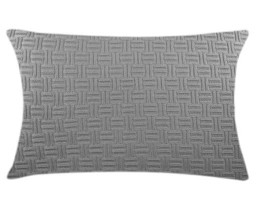 Fronha de Travesseiro em Tricô Ivy - Cinza, Cinza | WestwingNow