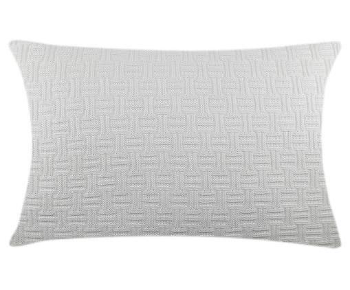 Fronha de Travesseiro em Tricô Ivy - Branco, Branco | WestwingNow