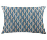 Fronha em Tricô Geométrica Roscoe - Azul e Bege | WestwingNow