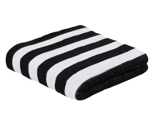 Manta em Tricô Listras - Preta e Branca, Preto e Branco | WestwingNow