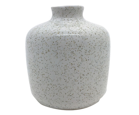 Vaso de Cerâmica Leanna - Branco | WestwingNow