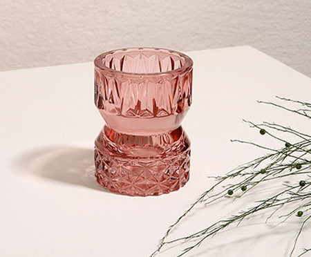 Vaso de Vidro Rochelle - Rosa | WestwingNow