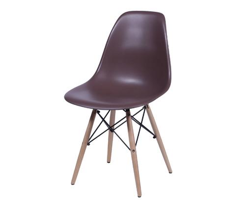Cadeira Eames Wood - Café, Marrom, Colorido   WestwingNow